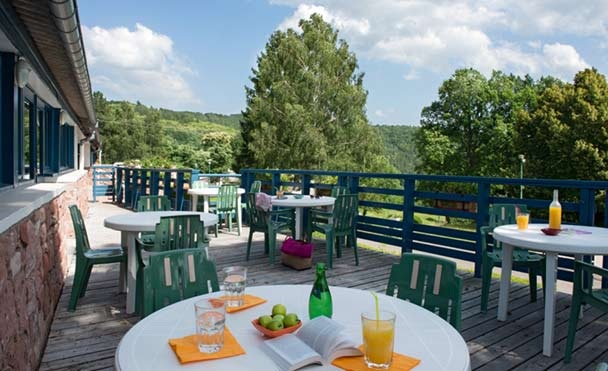 Terrace with a view over the Vosges