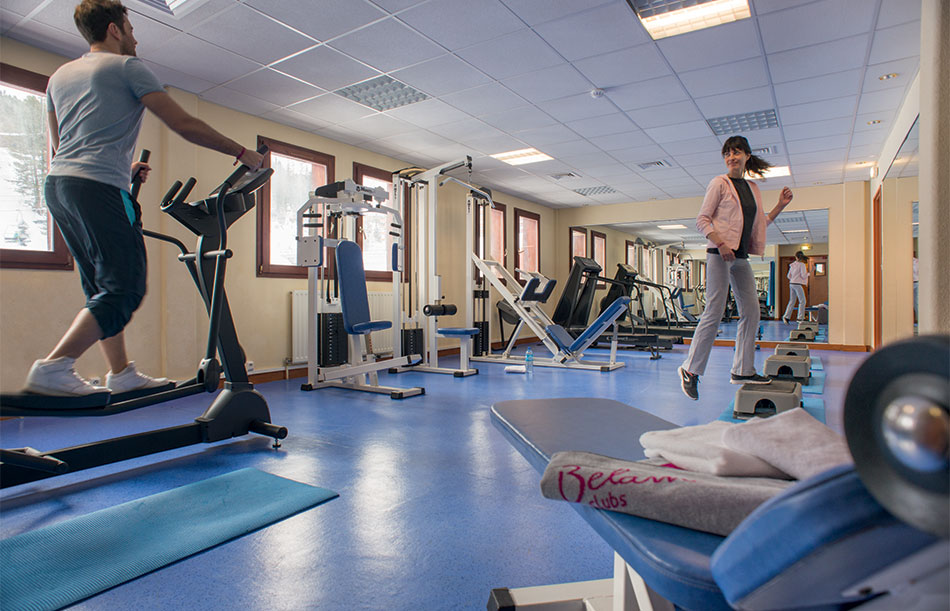 Free access to the fitness area