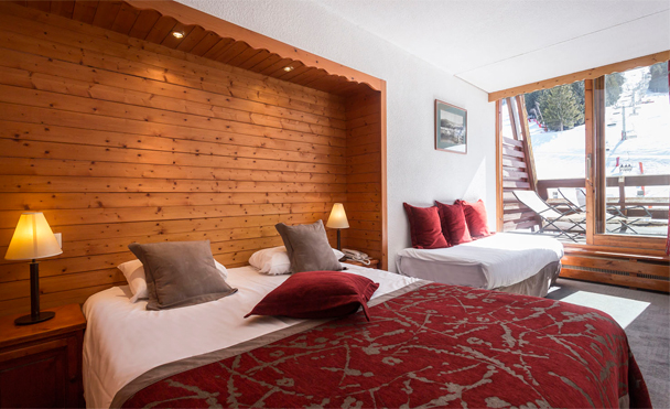 located in arc 1600 ski area 85 confortable rooms