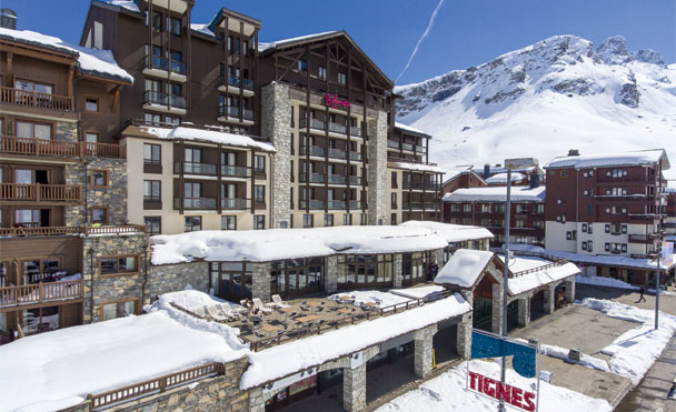 At the heart of Tignes ski resort