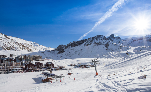 100m from the pistes and cable car